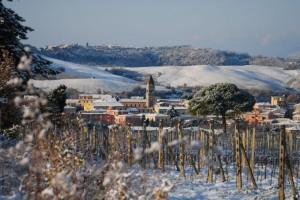 Casciana Terme sotto la neve