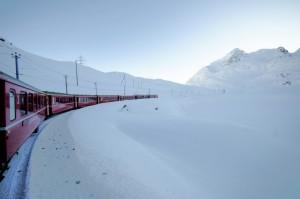 Il Bernina e il suo trenino rosso…..