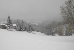 striscia sulla neve