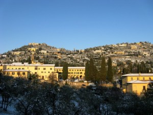 La neve su Fiesole