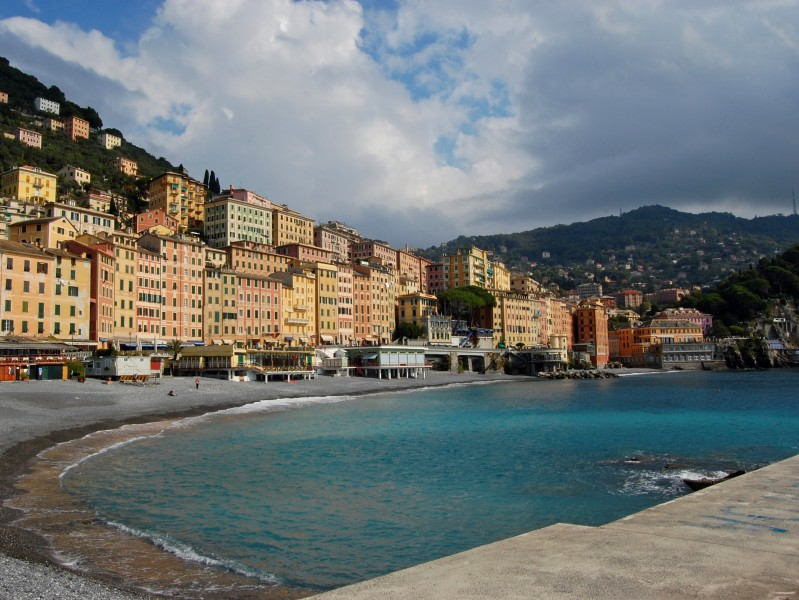 ''Summer on a solitary beach'' - Camogli