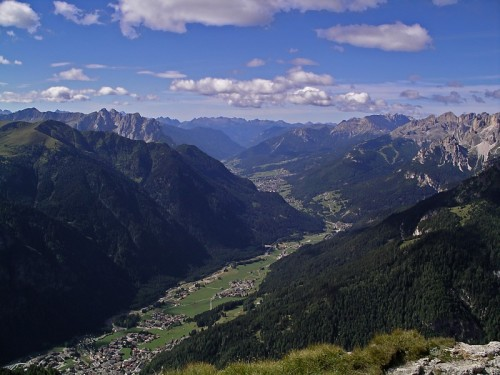 Canazei - Panorama della Val di Fassa