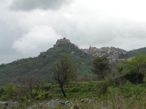 Panorama di Castiglione dalla Valle dell'Alcantara