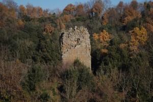 La Torre del Castello tra gli alberi