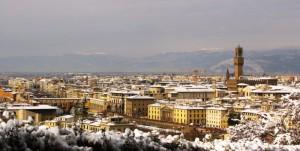 E' nevicato a Firenze