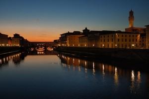 Firenze, rossa di sera…