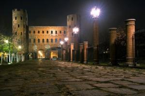 Porte Palatine illuminate a festa…