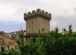 La sommità della torre