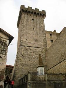 La torre della rocca medievale