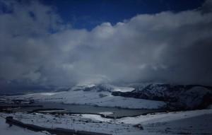 Neve sul lago