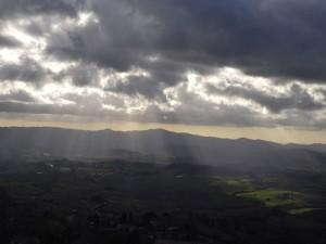 panorama con Saline di Volterra