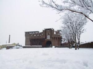 Nevicata al castello
