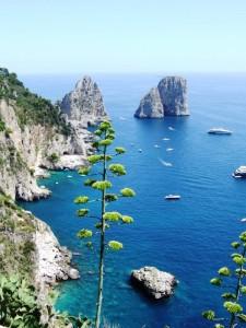 Capri veduta sui  Faraoni