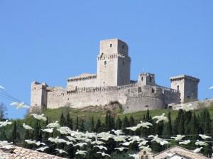 Castello di Assisi - Veduta pasquale