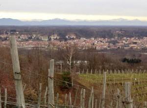panorama su Romagnano Sesia