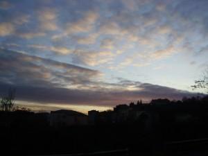 tramonto su Lubriano