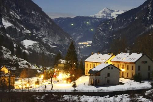 Premia - Rivasco, sguardo a valle nella notte di capodanno
