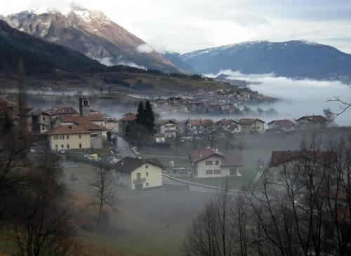 Bleggio Superiore - Bleggio Superiore nell'insolita nebbia