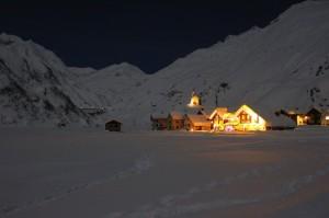 Frazione Riale e diga del Morasco, Formazza nella notte di capodanno