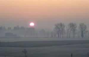 Una gelida alba d'inverno
