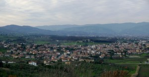 Panorama di Quarrata.