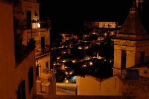 Ibla da S. Maria delle Scale di notte