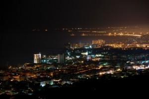 Panoramica notturna di Silvi