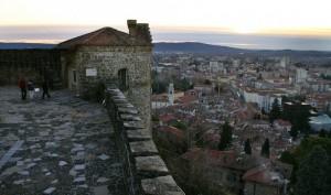 Gorizia al tramonto dal castello