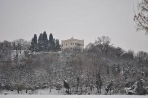 Il castello Draghi ama la neve…