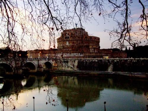 Roma - il castello al tramonto