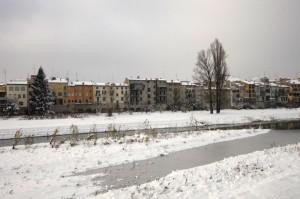 Le case lungo il Torrente dopo la nevicata!