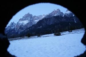 Vista delle Dolomiti da S. Vito di Cadore.