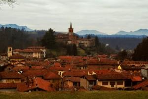 Panorama di Castiglione Olona con Collegiata