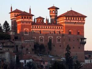 il tramonto sul castello…..