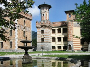 Il castello e la fontana