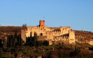 La parte più alta del castello di Soave