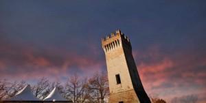 tramonto alla torre di dinazzano