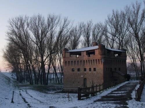 Bondeno - La Rocca di Stellata nella neve