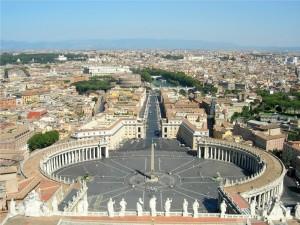 Vista su Roma dalla cupola di San Pietro