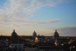 crepuscolo su Roma