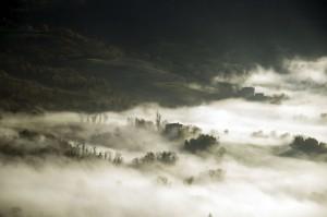 Paesaggio dal castello di San Leo