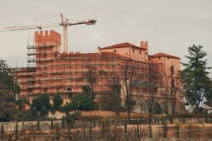 Restauri al castello di Reano