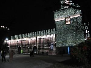 Castello Sforzesco Illuminato  a Festa