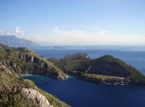 Baia di Ieranto da Punta Campanella