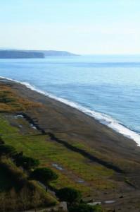 il mare bagna la costa di Maratea