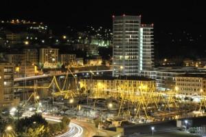 il porto di sera a natale
