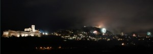 Panorama Assisi by Night