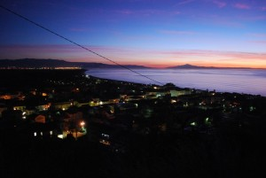 Marina di Nicotera - Panorama al tramonto