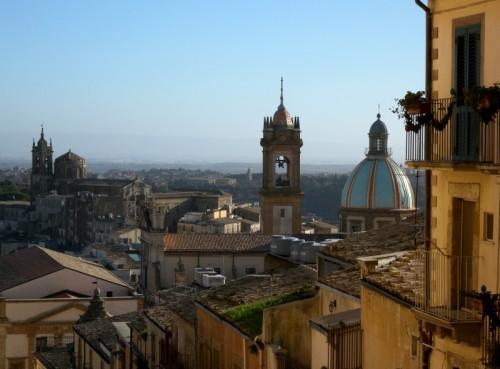 Caltagirone - Caltagirone, panorama da Scala Santa Maria del Monte