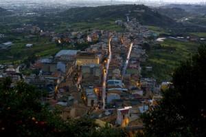 Dal castello di Santa Lucia una panoramica sulla vallata del Mela